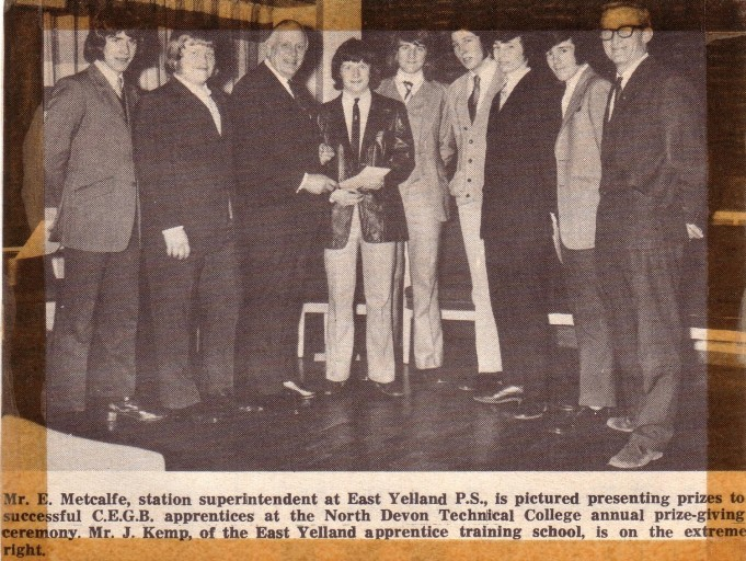 Apprentice of the Year Award - 1973